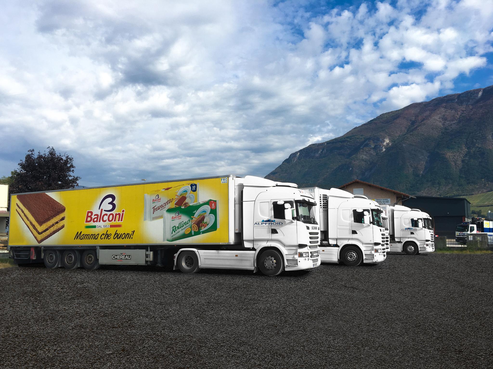 Camions Alpfroid Balconi transports frigorifique